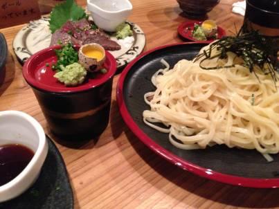 和磊の照喜名麺のざるそば(沖縄そば)